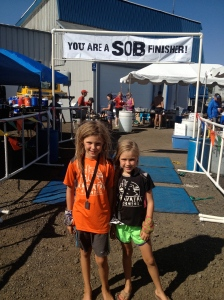 Teagan and I after the race at the finish.